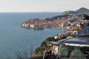 Old city Dubrovnik back drop