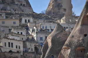 Urchisar, below the castle rock