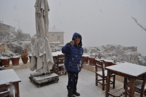 Snowing in Uchisar when we where there