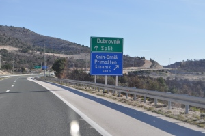 Highway Road into Split