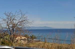 Thassos in the distance