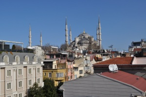 Blue Mosque from Hotel Albina Terrace