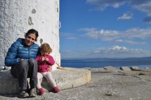 Nicky and Lily at the light house