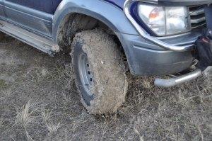 Mudded wheel