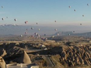 balloons over the valley