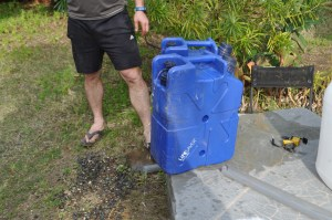 Our two Lifesaver Jerry cans