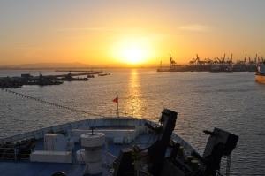 Sunrise in Haifa from Nissos
