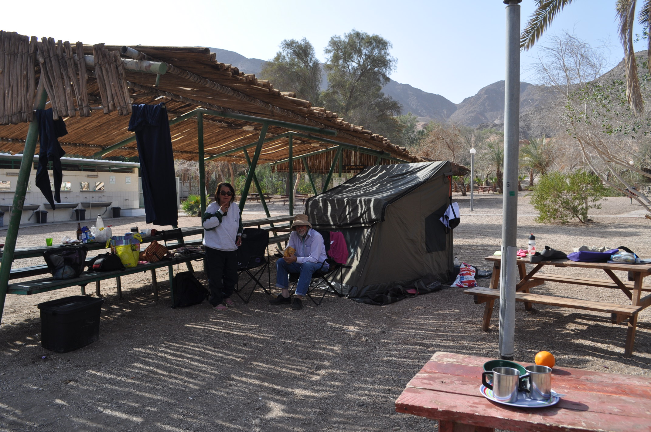 The Great Aus tent Sib and Pris & Camping at the Eilat School Field | familyinafrica