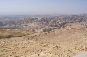 10kms outside Petra, looking down into the depression