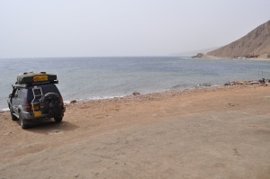 Parked at the Blue Hole, Dahab