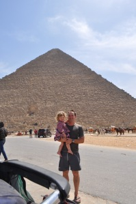 Lily daddy Giza Pyramid