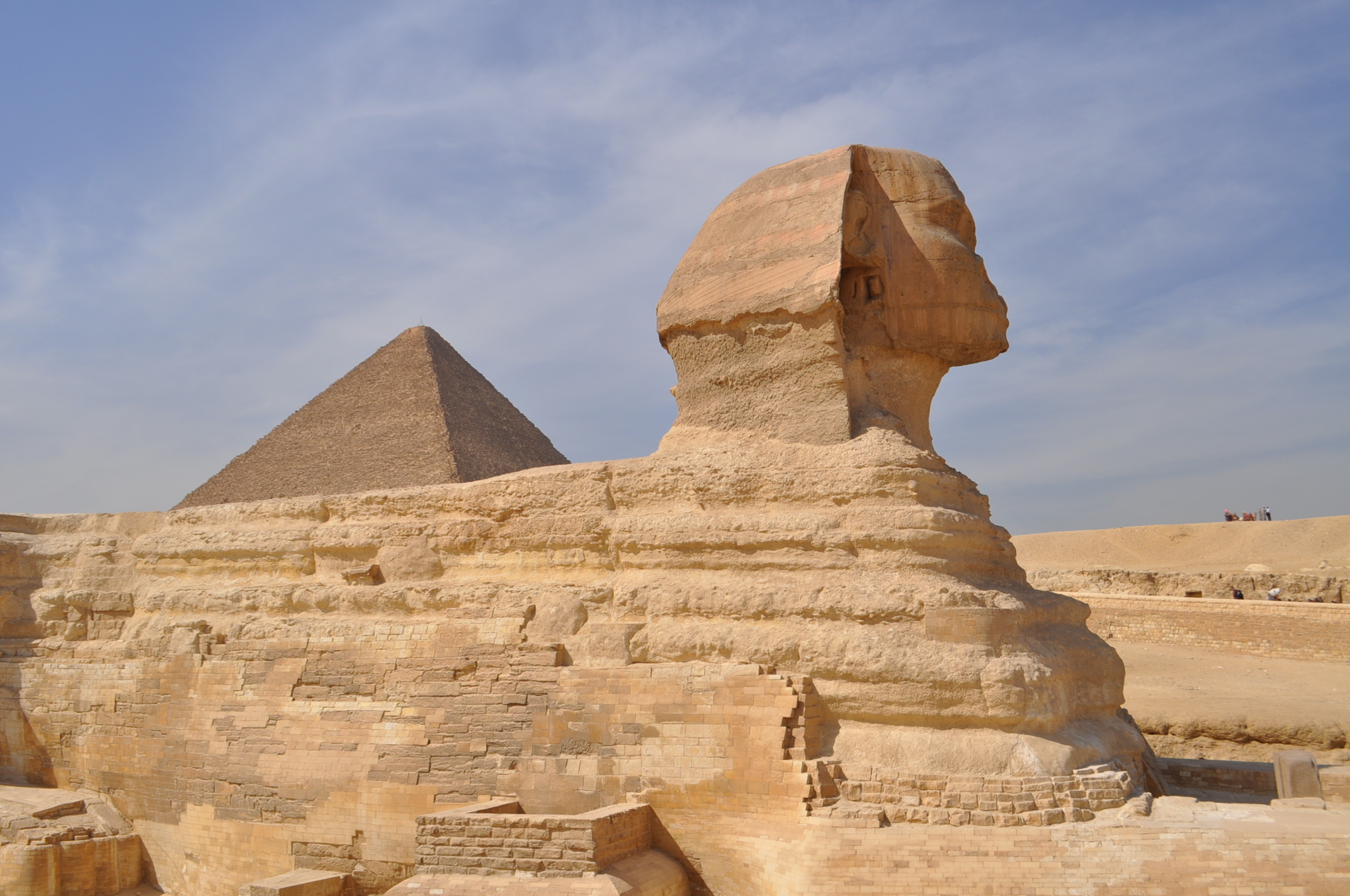the great sphinx of egypt Seeing the great sphinx giza, home to the great sphinx as well as the equally famous great pyramid, has melded into cairo over time any cairo tourist is within easy bus or cab distance of giza .