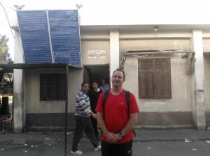 Standing in front of Nuweiba Customs