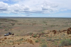 View from above the Petrified Forest