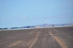 Driving across Kaisut desert, lots of mirages