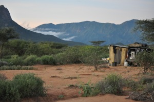 Bush campin in the Samburu area, north of Losai National Park