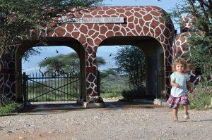 Lily running away from Samburu gate