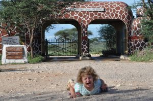 Lily falls close to Samburu gate