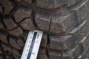 BFG tyres 255/85RT16 with 12mm tread
