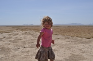 Lily on the the Serengeti Plains