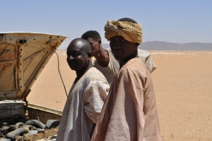 Helping some stranded people in the Nubian