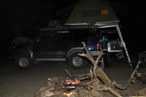 Bush camp in simian mountains outside Debark