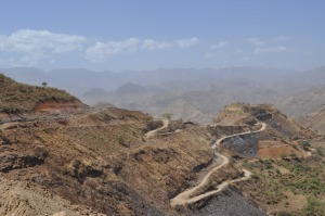 Roads in the Simien  mountains