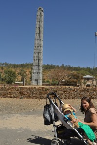 Lily and Nicky in the Axum sun