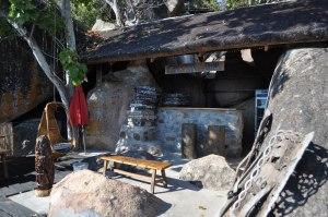 The rustic Safari Lodge Bar