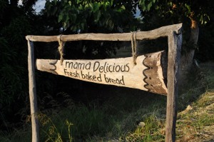 Mdokera Beach Campsite Sign
