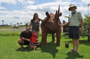 Our Rhino family at the airfield