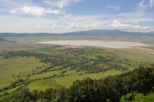 Shot of the Ngorongoro crater