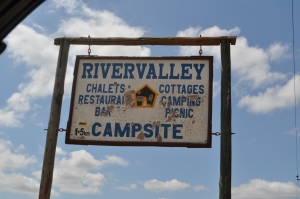 River Vally Camp Site sign post