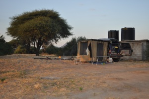 Camping next to Great Ruaha River