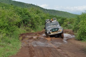 Terrains travelled, muddy roads
