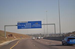 Driving into Johannesburg