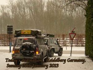 Terrains travelled, snow roads