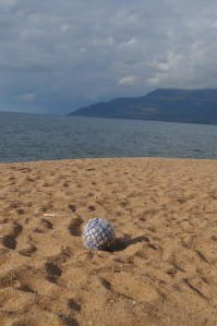 On Lake Malawi the Condom Football