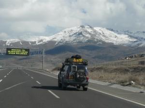 Terrains travelled, asphalt roads