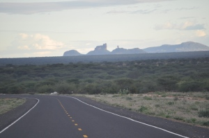 The asphalt road towards Samburu and Nairobi