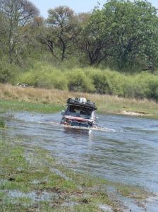 Okovango river crossing