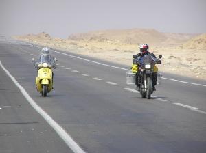 Dad and Lodie Sinai desert