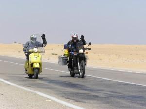 Double wave biking through the Sinai desert 2008