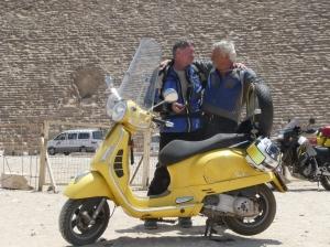 Lodie and Sib Andela Giza pyramids