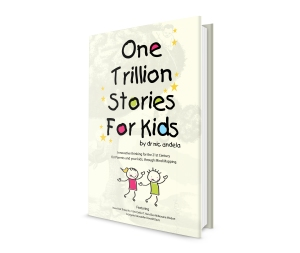 One Trillion Stories For Kids standing book cover