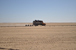 Crossing Nubian desert