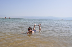 Nicky in the DEAD SEA