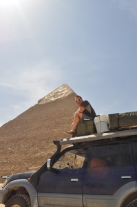 Nic at Giza, you can drive your cruiser around the one way system past pyramids and sphinx. Well worth it!