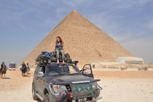 Nicky on cruiser, Giza