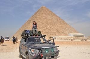Nicky on cruiser, Giza